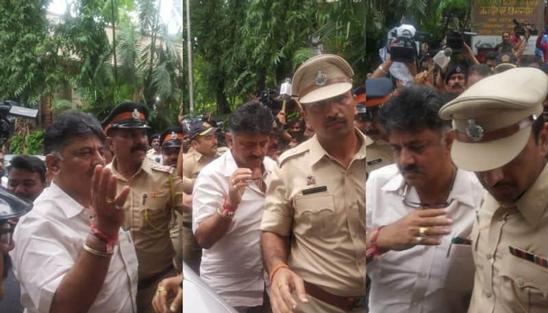 Karnataka coalition crisis: Mumbai Police stop Congress leader DK Shivakumar outside hotel