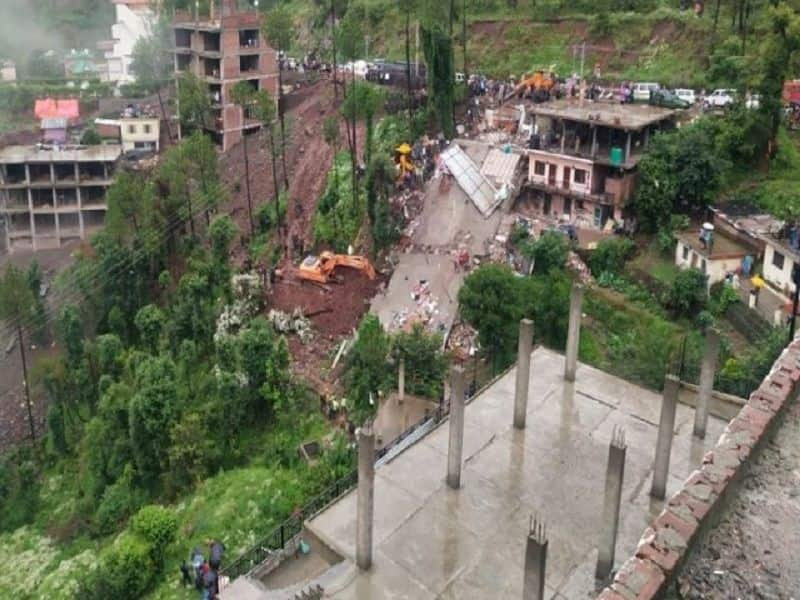 Building collapsed due to heavy rain in solan district in himachal Pradesh, two dies