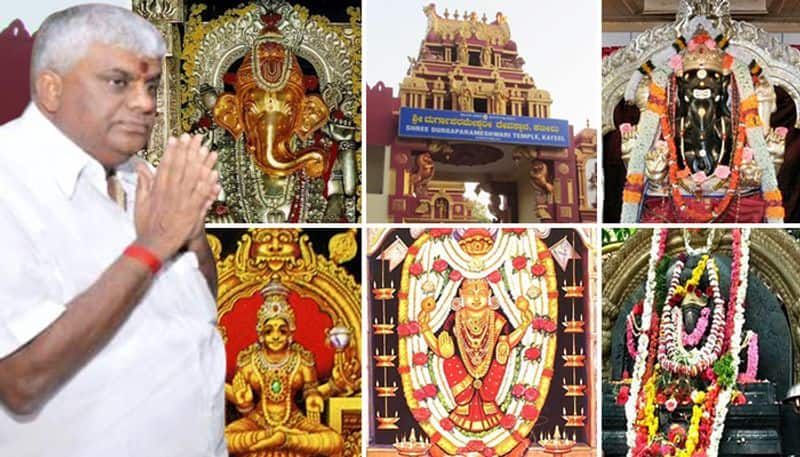 Karnataka coalition crisis Minister Revanna visits 6 temples in 1 day fumes at media personnel for taking pictures