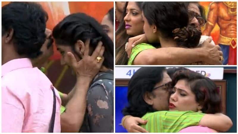 mohan vaidya  gave kiss to losliya and kamal  got irritated