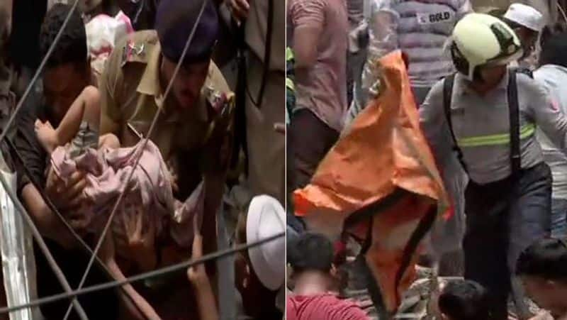 Mumbai building collapse: several people feared trapped; death toll rescue operations underway