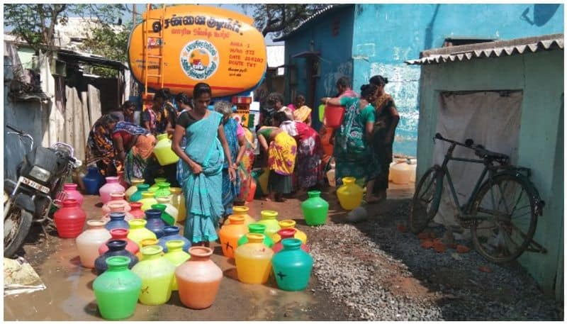 Heavy water shortages in fishing villages