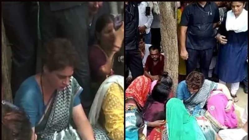 Sonbhadra shootout victims meet Priyanka Gandhi Vadra in Mirzapur