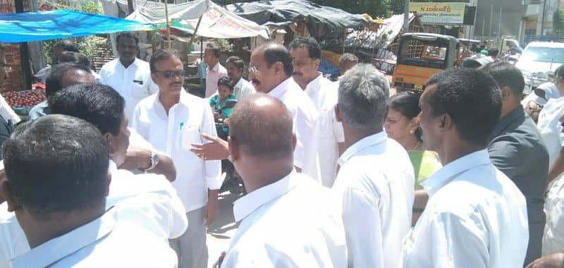 minister thangamani and others in vellore