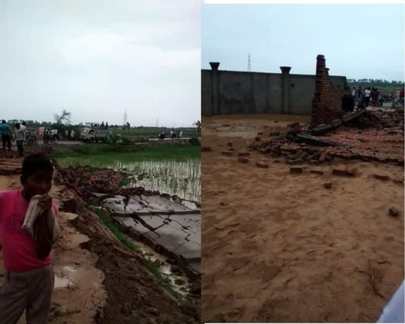 Three people die after wall collapses in rain in aligarh