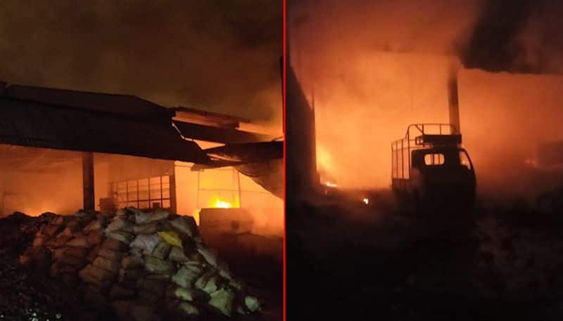 major fire accident in turmeric factory