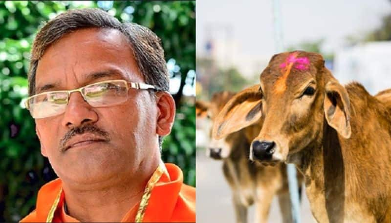 Cows inhale exhale oxygen can cure breathing problems Uttarakhand CM Trivendra Singh Rawat