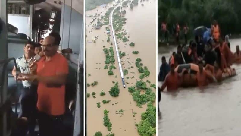 Mumbai rains After 17 hours all 1050 passengers rescued from Mahalaxmi Express