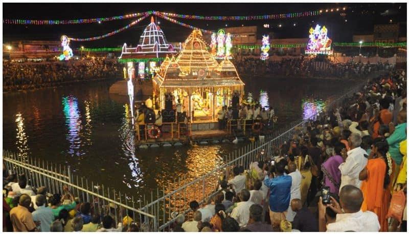 The Teppa Utsavam at the Thiruni Murugan Temple