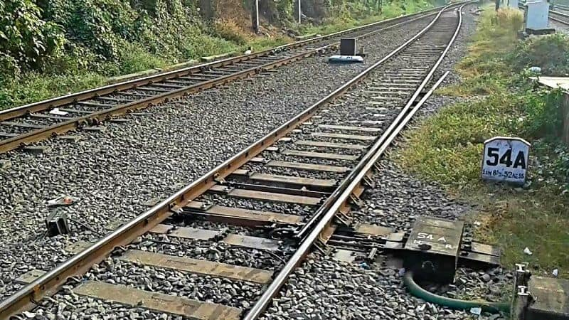 Two youth died on railways track after  during saw mobile on track