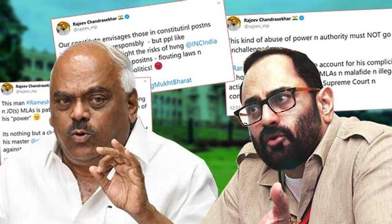 Speaker Ramesh Kumars order patently illegal malafide Rajya Sabha MP Rajeev Chandrasekhar