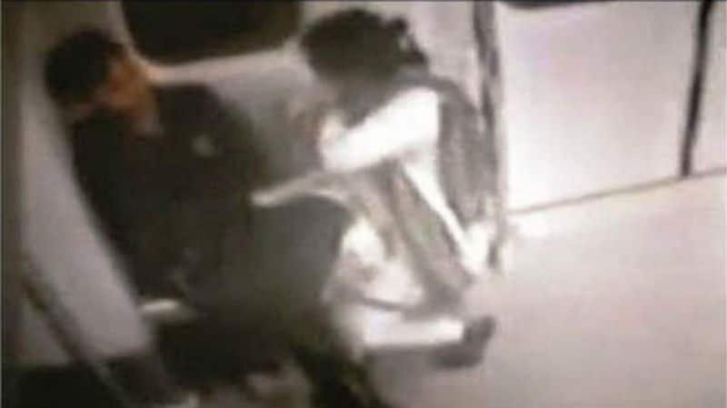 A clip of a couple in a compromising position at a Metro station was captured by the CCTV camera
