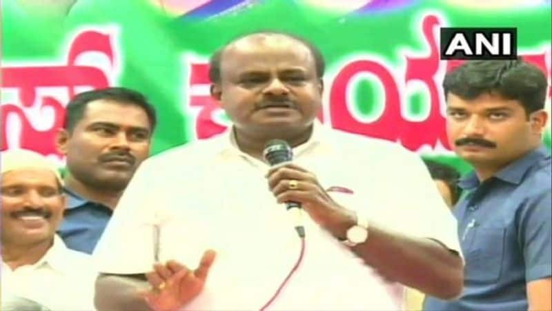 The kumaraswamy disclosed relation with congress, had work like slave