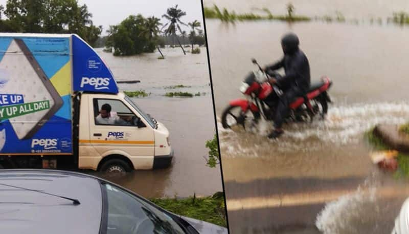 Goa rains wreak havoc 8 buses stuck near border several stranded near Panaji