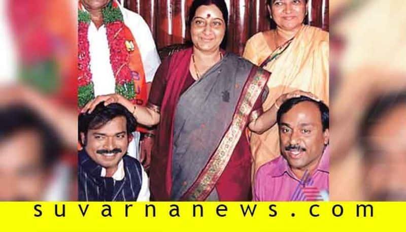 Former Minister Gali Janardhan Reddy pays tribute to former FM Sushma Swaraj in Facebook