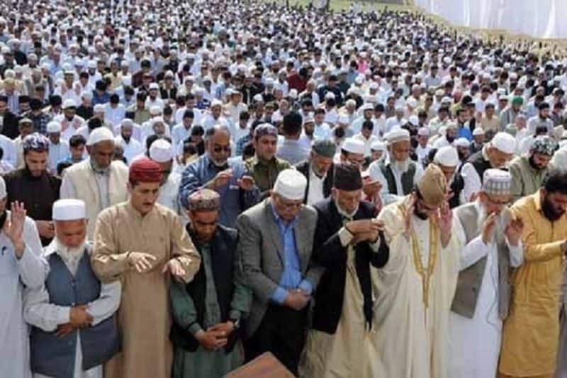 On the first Eid of the new era in Kashmir, people greeted each other, prayers offered in mosques