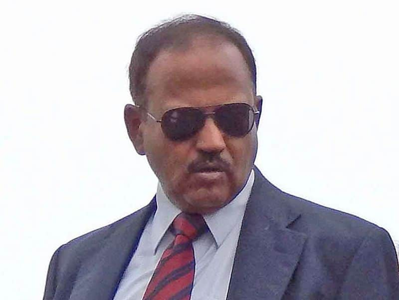 Ariel view of ajit doval on kashmir valley on the occasion of eid