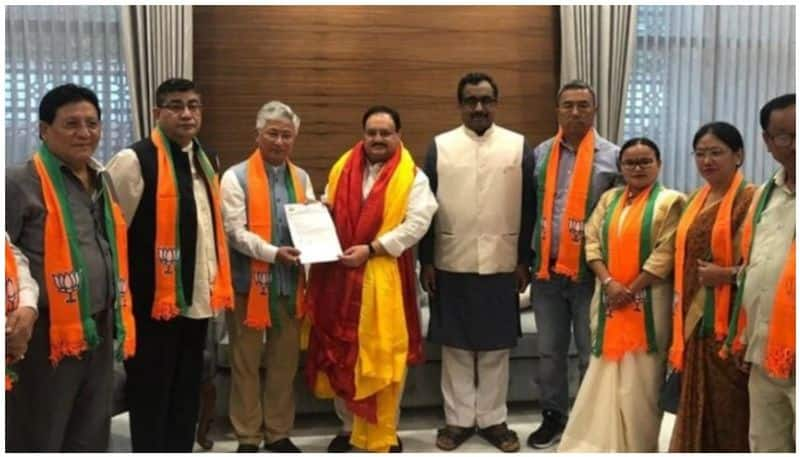 became Ten BJP MLAs in Sikkim without contesting elections, became main opposition party