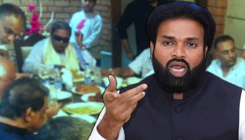 Didn't Siddaramaiah suffer from eye pain when he was eating biryani in Delhi? BJP Sriramulu