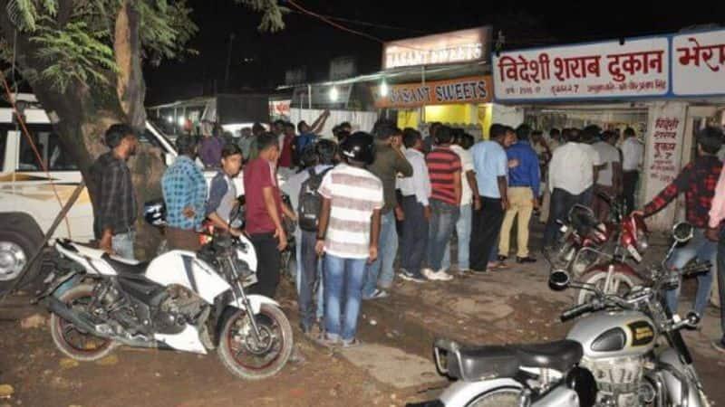 Long line outside liquor shops in Assam