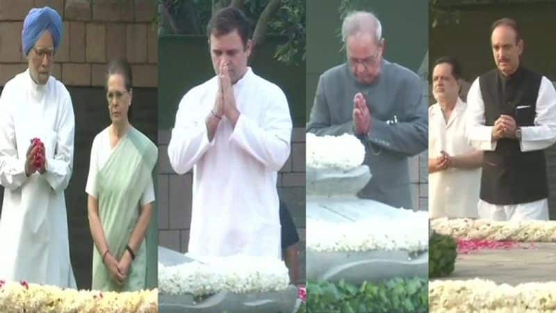 Rajiv Gandhi's 75th birth anniversary today, Congress leaders pay tribute to 'Veer Bhoomi', Hooda also arrived