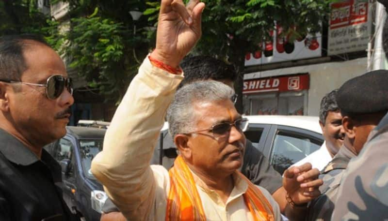 Bengal BJP president Dilip Ghosh allegedly attacked by mob in Kolkata's Lake Town