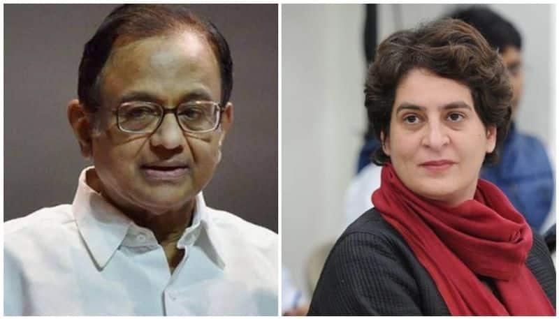 INX media case Chidambaram being shamefully hunted down for speaking truth says Priyanka Gandhi