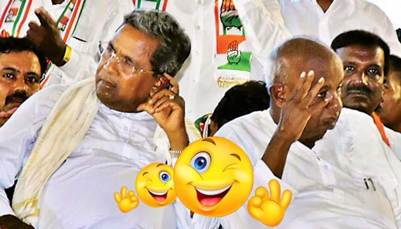 Deve Gowda and Siddaramiah Friends in power foes in defeat