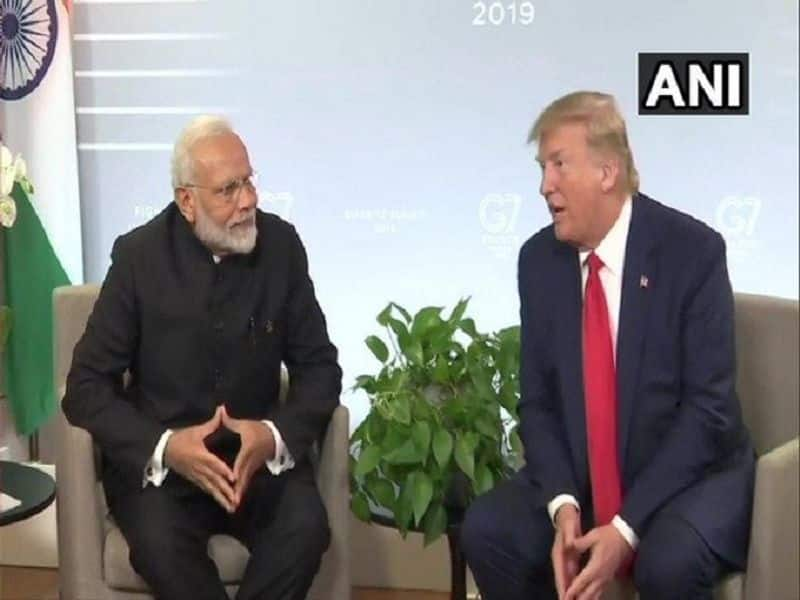 PM Modi and american president donald trump meeting in france give shock to  pakistan