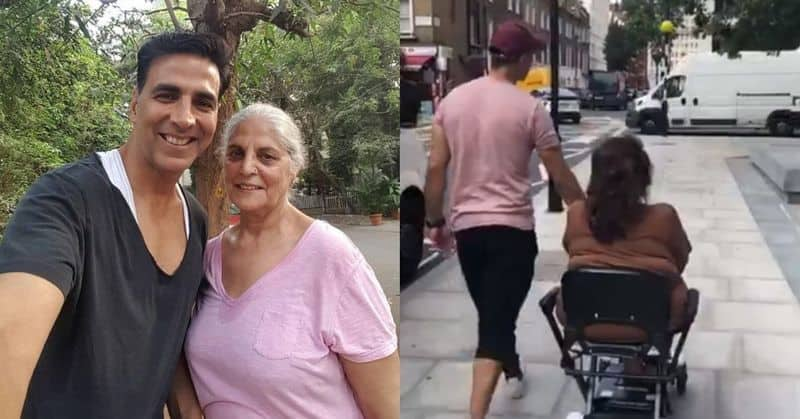 Akshay Kumar roams London streets with mother, plays role of doting son