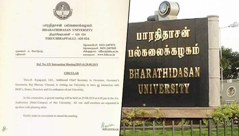 Tamil Nadu Bharathidasan University courts controversy after asking staff to dress up well