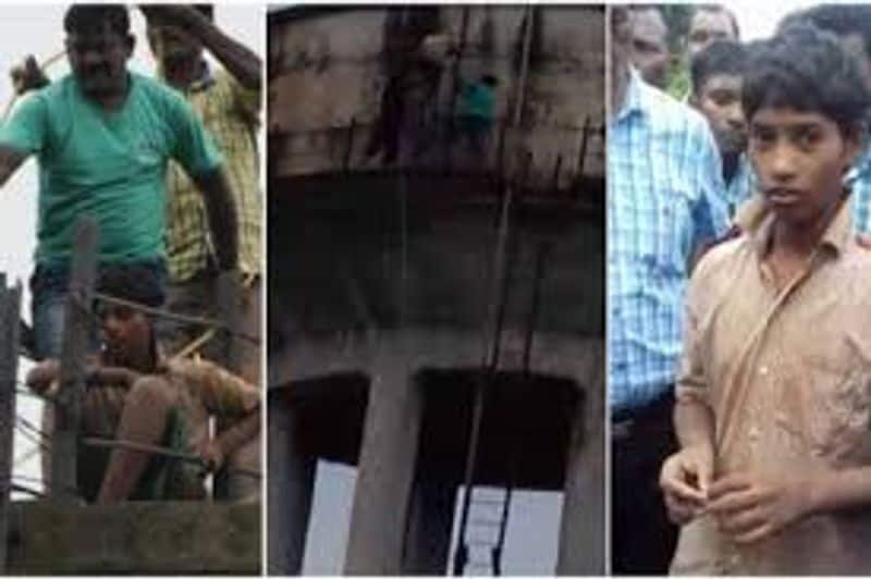 See the charisma of the above: a child trapped in a water tank for ten days,  ending hunger from drinking water