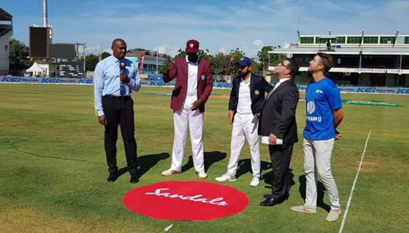 India West Indies 2nd Test toss report Kingston