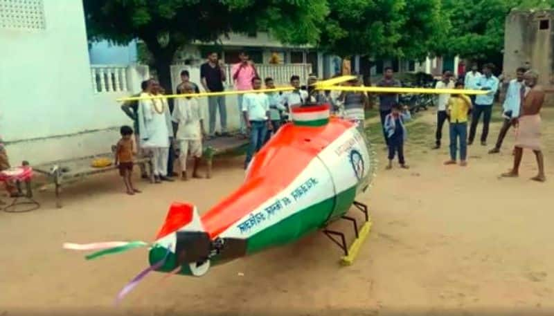 Farmer's son built helicopter, it can fly upto 20 feet from ground, video goes viral