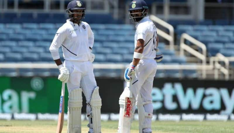 India vs West Indies 2nd Test Honours even Day 1 Kohli Agarwal hit fifties