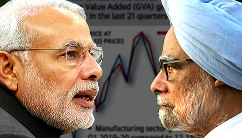 After Manmohan Singhs remarks on Modi BJP reminds him of how bad situation was during his time