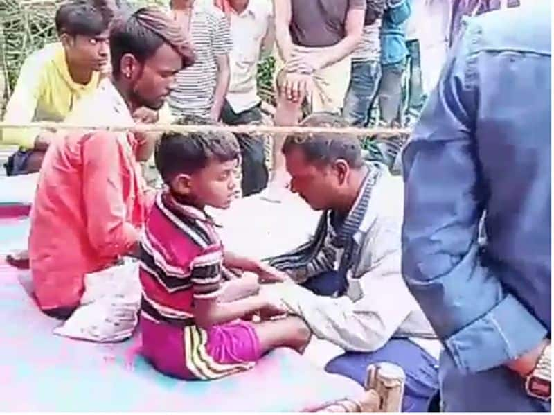 Patients are claimed to be cured with the touch of a child like jesus christ in uttar pradesh kaushambi