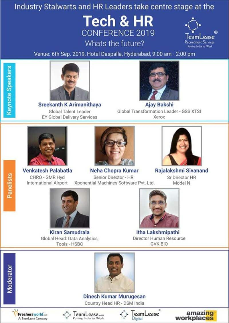 TeamLease organising a Tech & HR conference at Hotel Daspalla