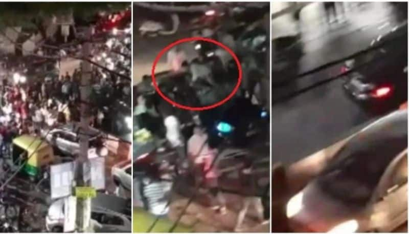 Caught on camera: Man rams into crowd twice in Delhi, driver absconding