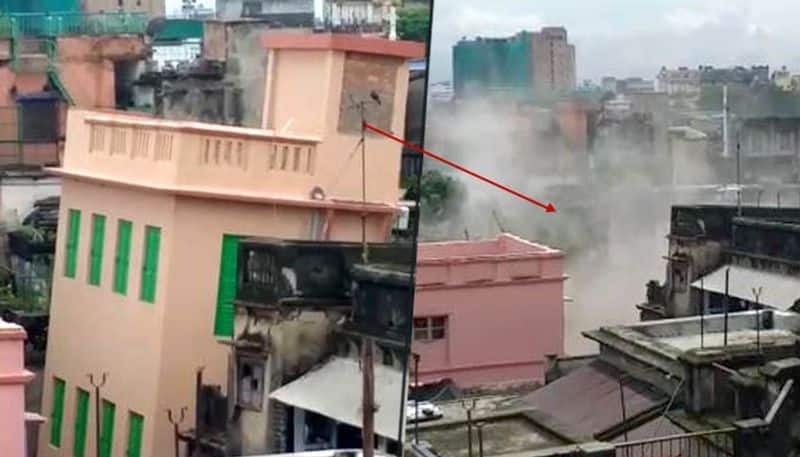 Another house part collapses in bowbazar,residents gets slip to enter house