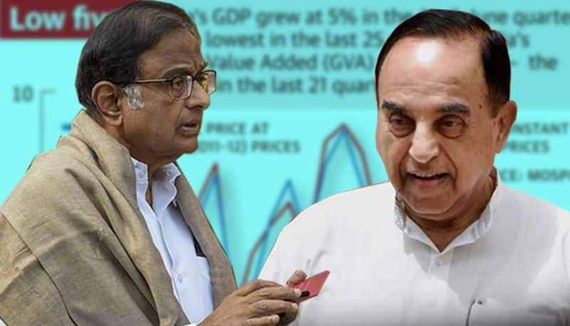 Chidambaram mocks Modi govt for 5% GDP, Subramanian Swamy counters it, says 5% can refer to commissions as well