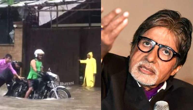 Mumbai rains: Amitabh Bachchan's home Prateeksha waterlogged, fans worried (Watch)