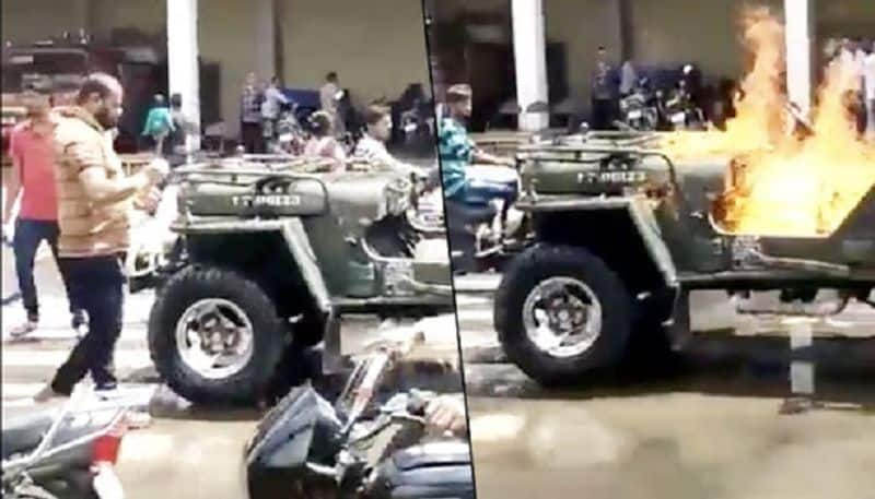 Gujarat: Man sets his jeep on fire, shares video on Tik Tok; Here is what happened next