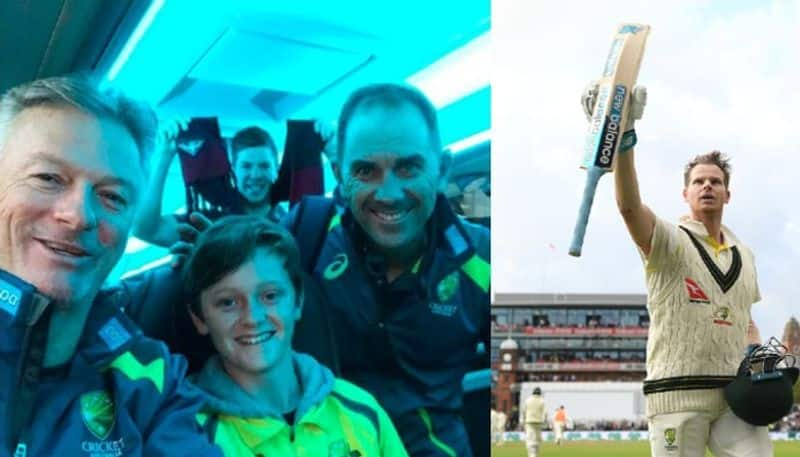 12 year old Australian boy takes out trash Ashes Test ticket