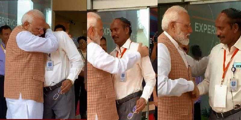 Chandrayaan 2: PM Modi hugs ISRO chairman Sivan in a gesture of solace, extolls scientists as 'exceptional professionals'