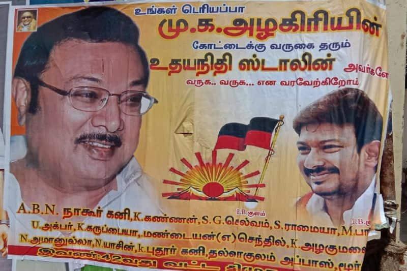 MK Azhagiri supporters shocking to Udayanidhi Stalin