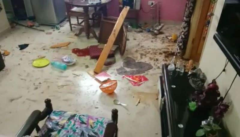 Mysterious explosion at house of a police inspector in Kestopur