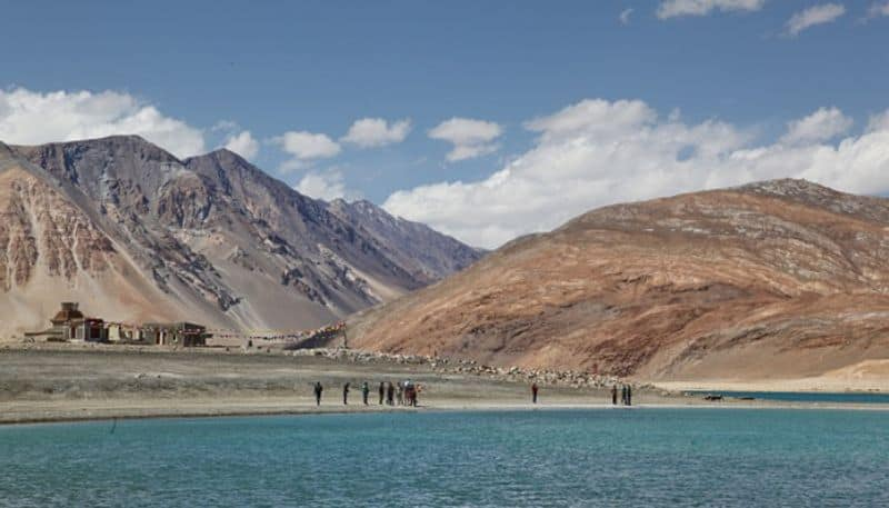 Chinese building helipad in Pangong Tso massing troops on southern bank of lake