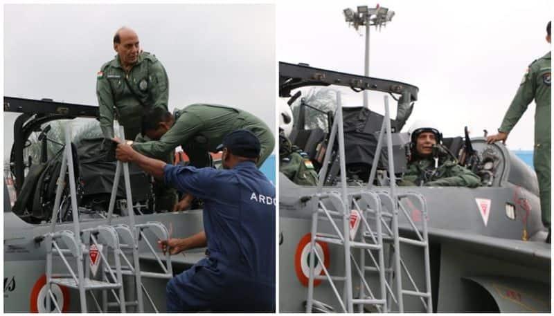 Defence minister Rajnath Singh terms Tejas flight exhilarating