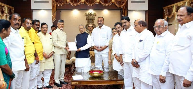 TDP Chief Chandrababu writes a letter to Governor biswabhushan akp